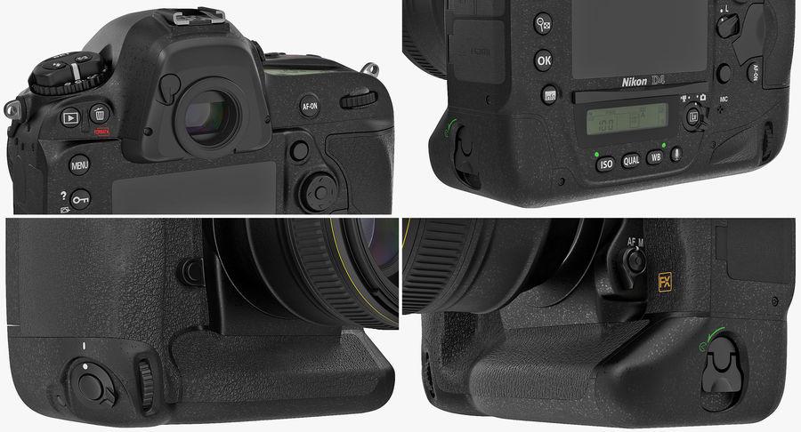Nikon D4 3D 모델 royalty-free 3d model - Preview no. 14