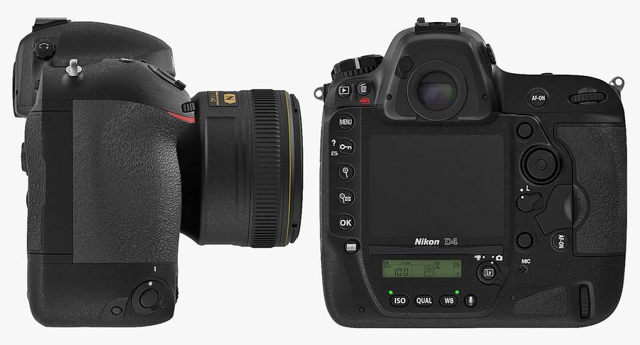 Nikon D4 3D 모델 royalty-free 3d model - Preview no. 12
