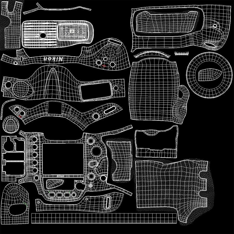 Nikon D4 3D 모델 royalty-free 3d model - Preview no. 18
