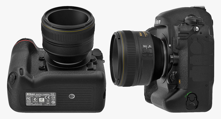 Nikon D4 3D 모델 royalty-free 3d model - Preview no. 9