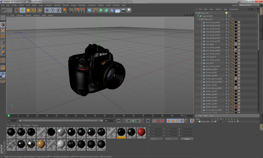 Nikon D4 3D 모델 royalty-free 3d model - Preview no. 20