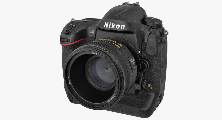 Nikon D4 3D 모델 royalty-free 3d model - Preview no. 2