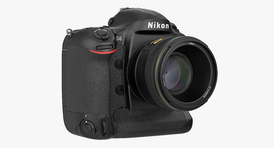 Nikon D4 3D 모델 royalty-free 3d model - Preview no. 3