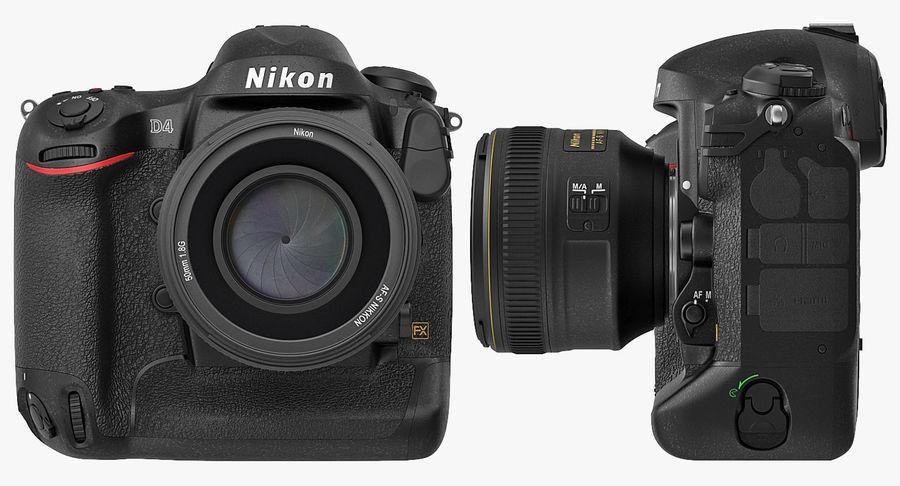 Nikon D4 3D 모델 royalty-free 3d model - Preview no. 11