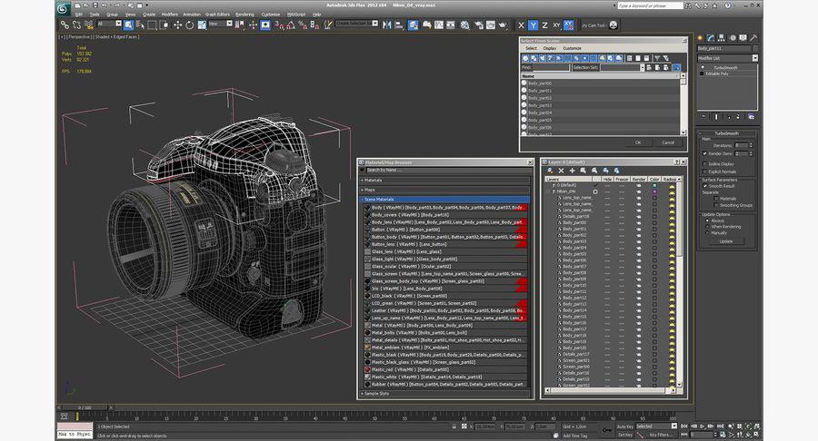 Nikon D4 3D 모델 royalty-free 3d model - Preview no. 22
