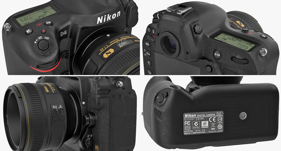 Nikon D4 3D 모델 royalty-free 3d model - Preview no. 15