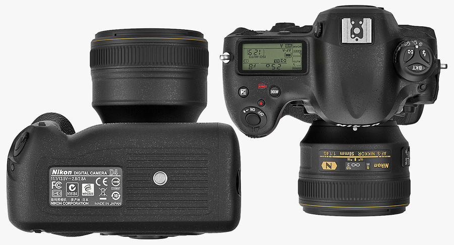 Nikon D4 3D 모델 royalty-free 3d model - Preview no. 13