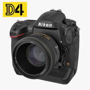 Nikon D4 3D 모델 3d model