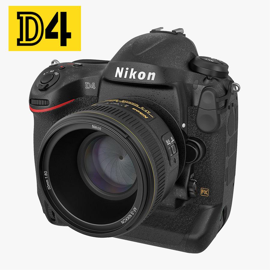 Nikon D4 3D 모델 royalty-free 3d model - Preview no. 1