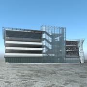Parkeringsgarage med flera våningar 3d model