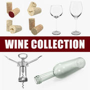 Wine 3D Models Collection 3d model