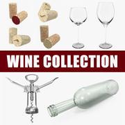 Wine 3D Modelsコレクション 3d model
