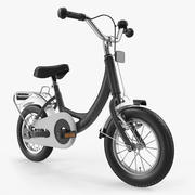 Kids Bike Rigged 3D Model 3d model