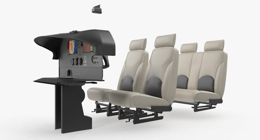 Lichte vliegtuigcabine royalty-free 3d model - Preview no. 4