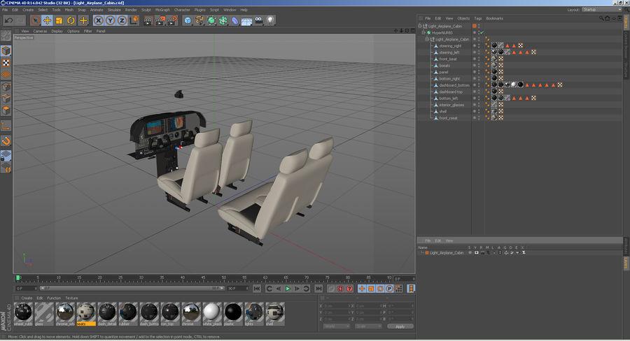 Lichte vliegtuigcabine royalty-free 3d model - Preview no. 17