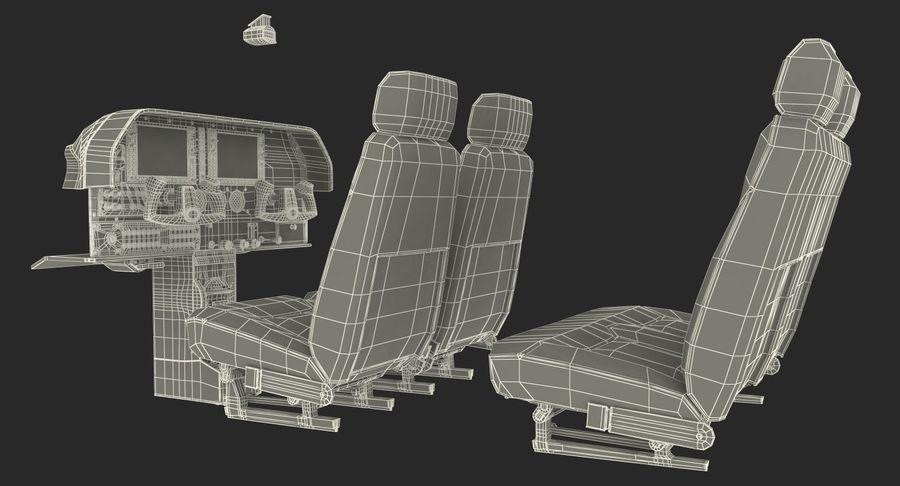 Lichte vliegtuigcabine royalty-free 3d model - Preview no. 20