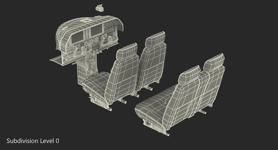 Lichte vliegtuigcabine royalty-free 3d model - Preview no. 13