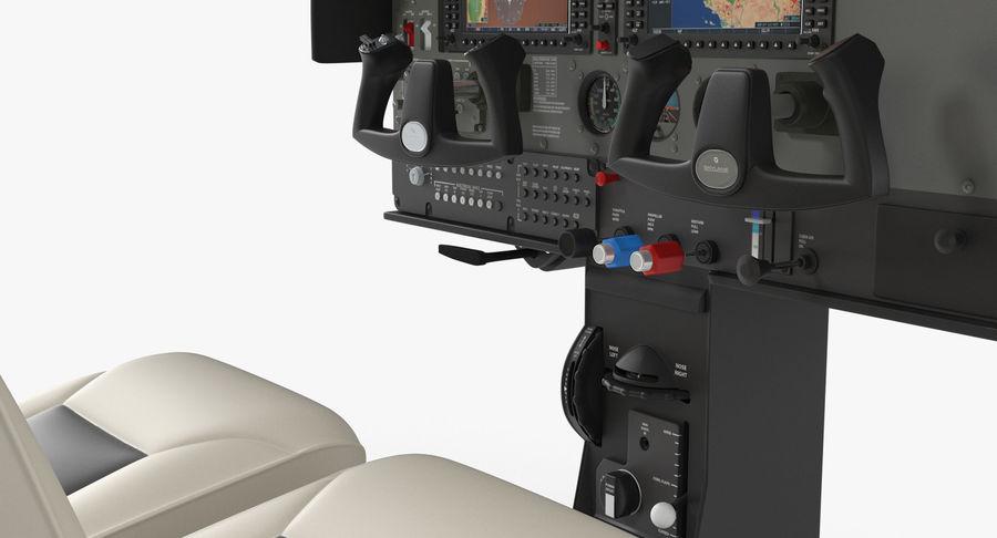 Lichte vliegtuigcabine royalty-free 3d model - Preview no. 11