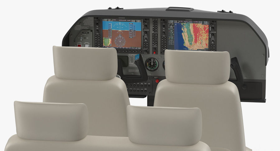 Lichte vliegtuigcabine royalty-free 3d model - Preview no. 6