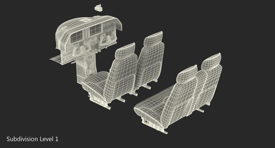 Lichte vliegtuigcabine royalty-free 3d model - Preview no. 14