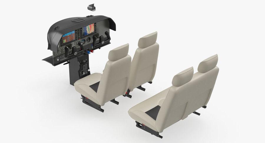 Lichte vliegtuigcabine royalty-free 3d model - Preview no. 2