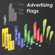 Flagi reklamowe 3d model