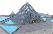 Louvrepiramide, Parijs. 3d model
