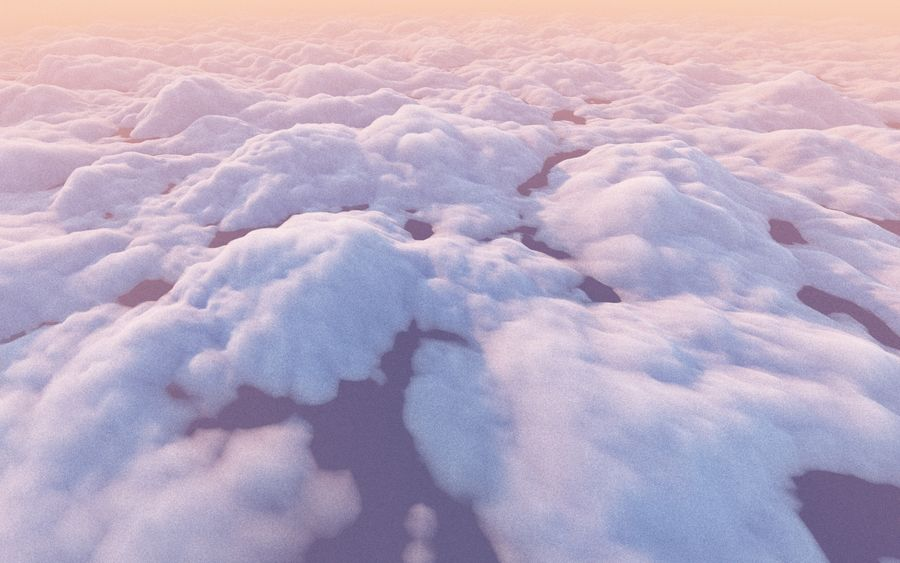 3D Clouds Animated Pack royalty-free 3d model - Preview no. 6