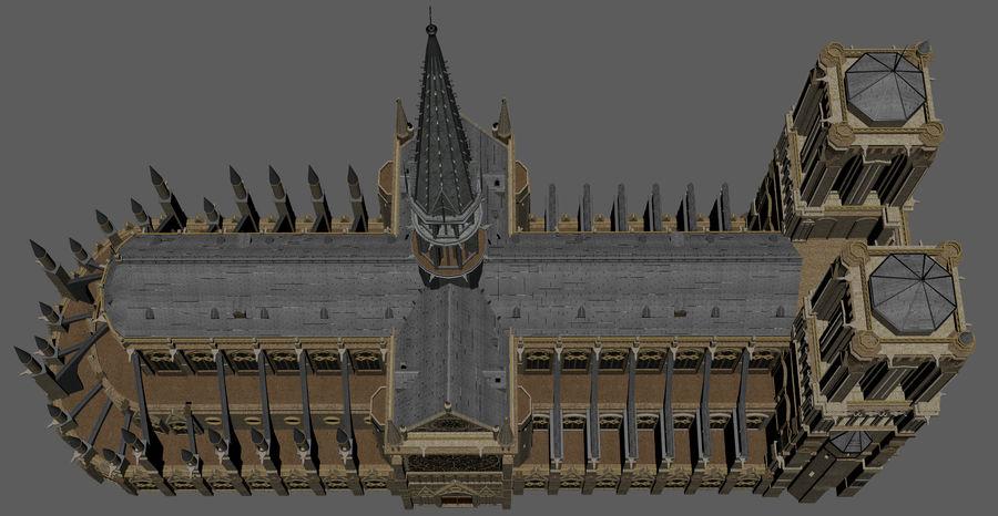 Kathedraal Notre Dame, Parijs. royalty-free 3d model - Preview no. 13