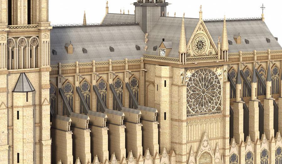 Kathedraal Notre Dame, Parijs. royalty-free 3d model - Preview no. 3