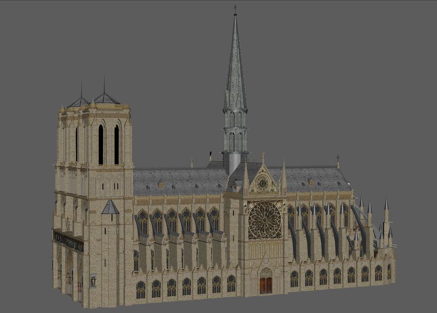 Kathedraal Notre Dame, Parijs. royalty-free 3d model - Preview no. 6