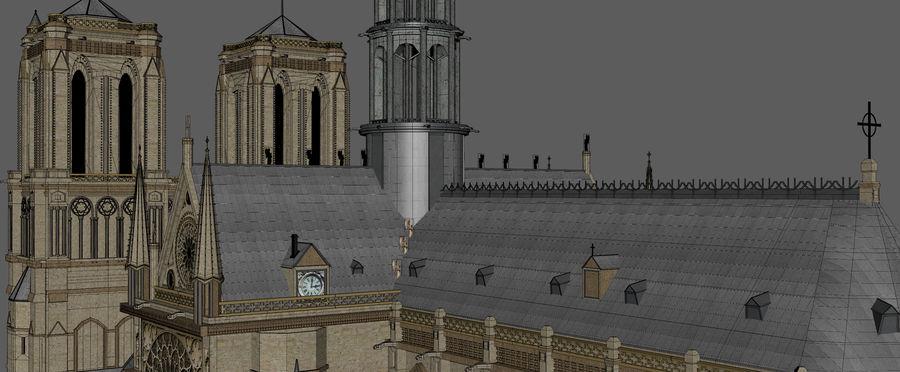Kathedraal Notre Dame, Parijs. royalty-free 3d model - Preview no. 11