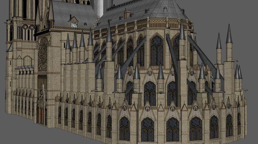 Kathedraal Notre Dame, Parijs. royalty-free 3d model - Preview no. 10
