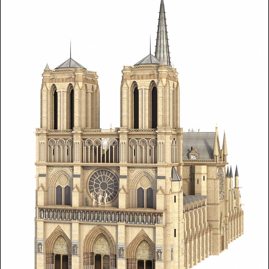 Kathedraal Notre Dame, Parijs. royalty-free 3d model - Preview no. 4
