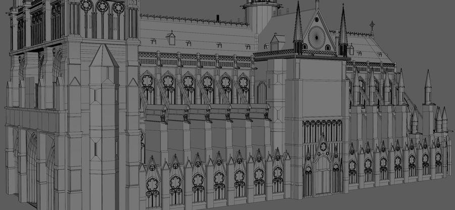 Kathedraal Notre Dame, Parijs. royalty-free 3d model - Preview no. 15
