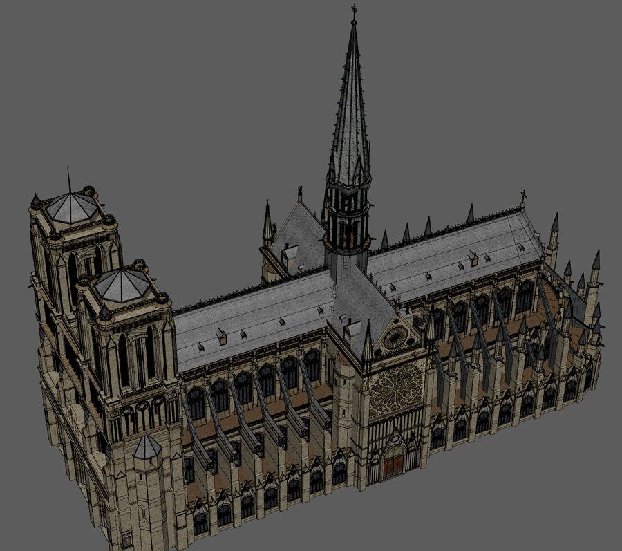 Kathedraal Notre Dame, Parijs. royalty-free 3d model - Preview no. 9