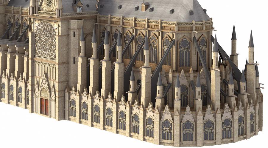 Kathedraal Notre Dame, Parijs. royalty-free 3d model - Preview no. 5