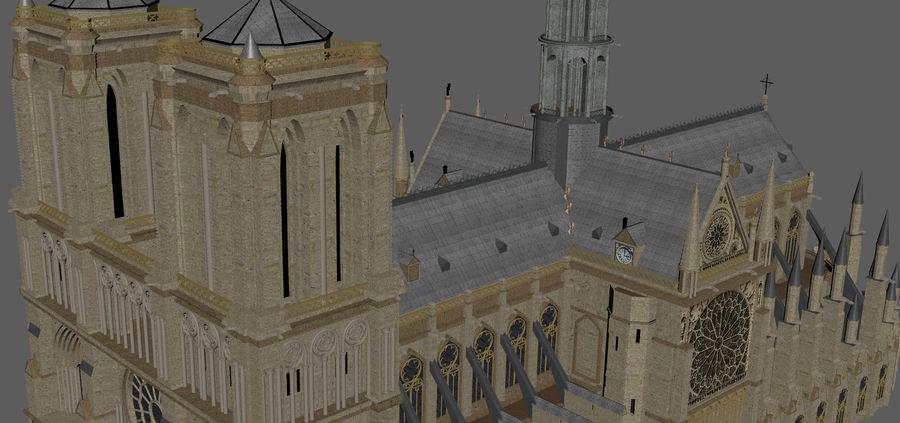 Kathedraal Notre Dame, Parijs. royalty-free 3d model - Preview no. 12
