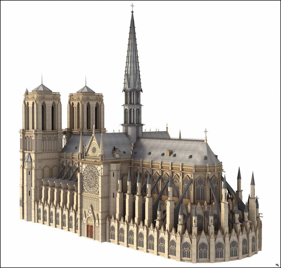 Kathedraal Notre Dame, Parijs. royalty-free 3d model - Preview no. 1