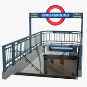 London Underground Entrance 3d model