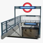 Entrée du métro de Londres 3d model