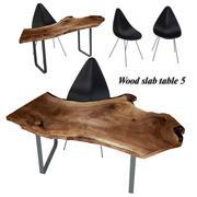 Tabla de losas de madera 5 modelo 3d