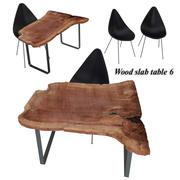Tabla de losas de madera 6 modelo 3d