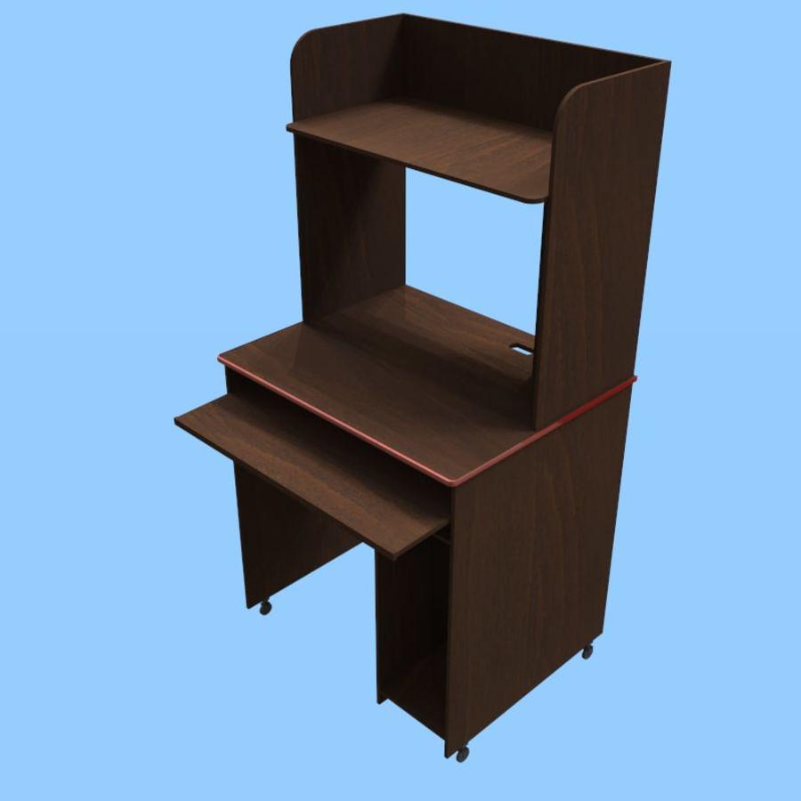 Mesa de ordenador royalty-free modelo 3d - Preview no. 4