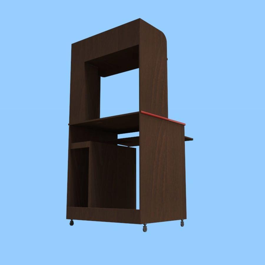 Mesa de ordenador royalty-free modelo 3d - Preview no. 5