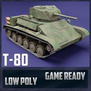 T-80 USSR Toon Tank * Grande * 3d model