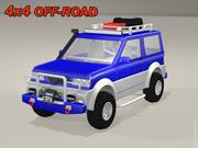 4x4 Внедорожник 3d model