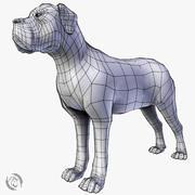 bazowy pies mastiff 3d model