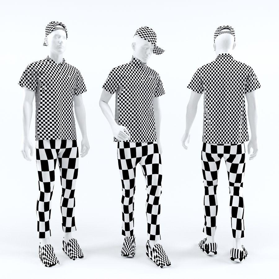 Manequim homem Lacoste royalty-free 3d model - Preview no. 2