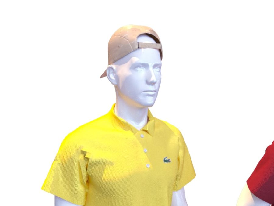 Manequim homem Lacoste royalty-free 3d model - Preview no. 5